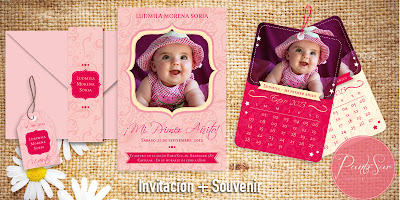 Invitación y souvenir calendario