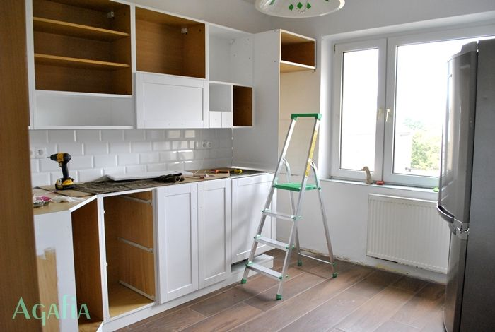 Z cyklu przed i po  kuchnia  Agafia  hobby, hand made   -> Kuchnia Bez Kafelek