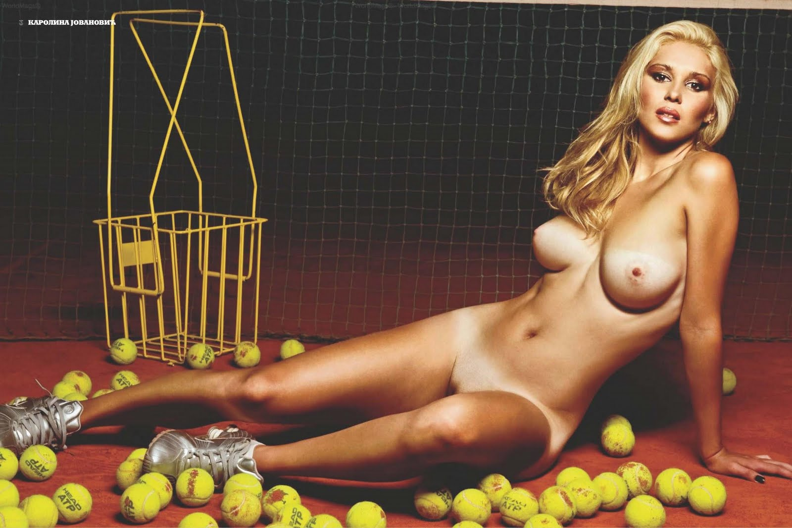 hot nude tennis player girl