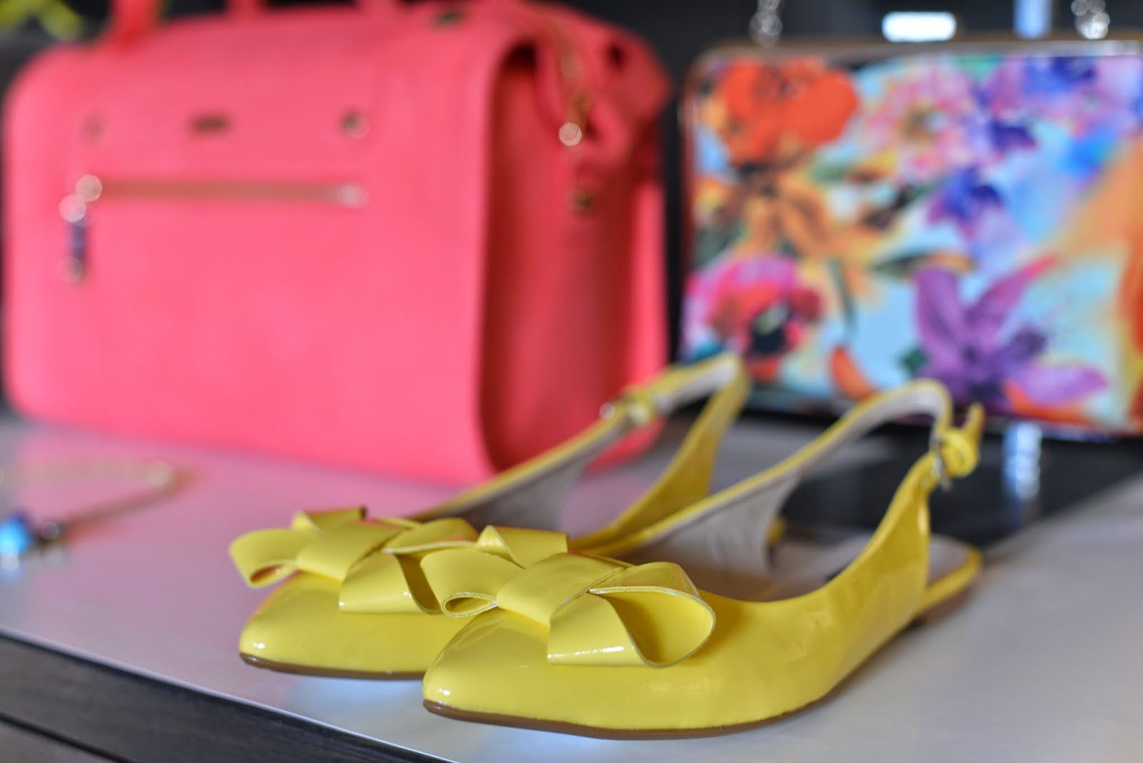 Yellow Slingback Pumps