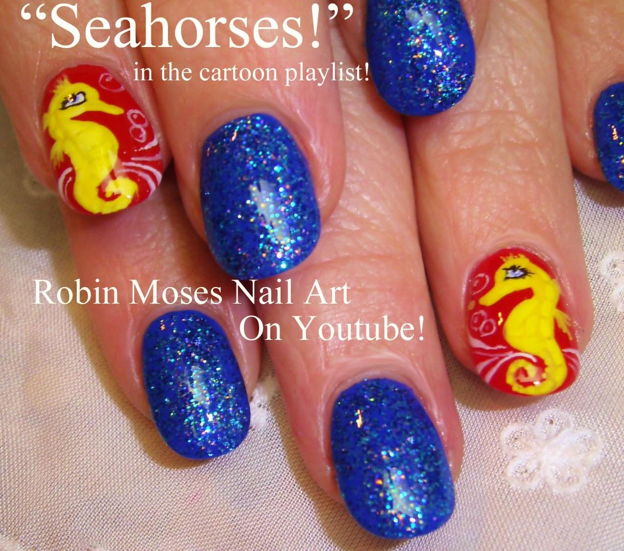 Robin moses nail art seahorse nails nail art seahorses seahorse nails nail art seahorses nautical nails summer nails fish nail art aquarium nails sailor jerry boat nails octopus nails prinsesfo Image collections
