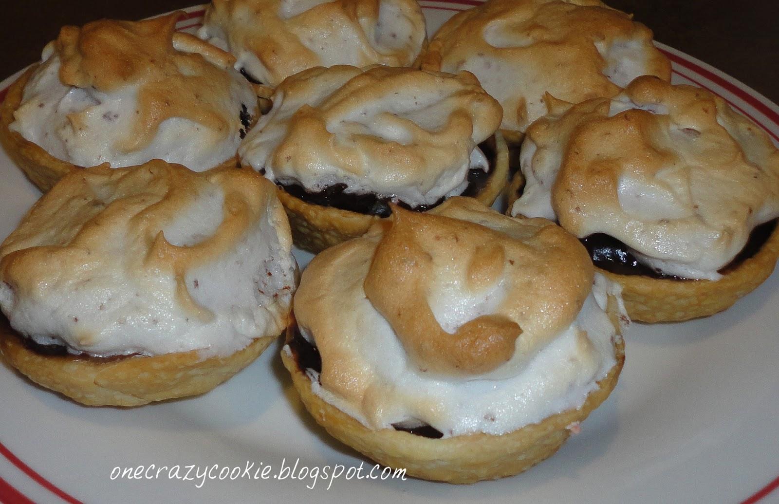 One Crazy Cookie: Mini Chocolate Meringue Pies