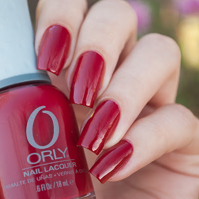 Orly Red Flare - один лак, три маникюра.