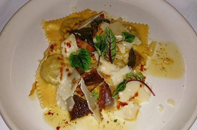 Pinotta, Italian, Fitzory, ravioli, mushrooms