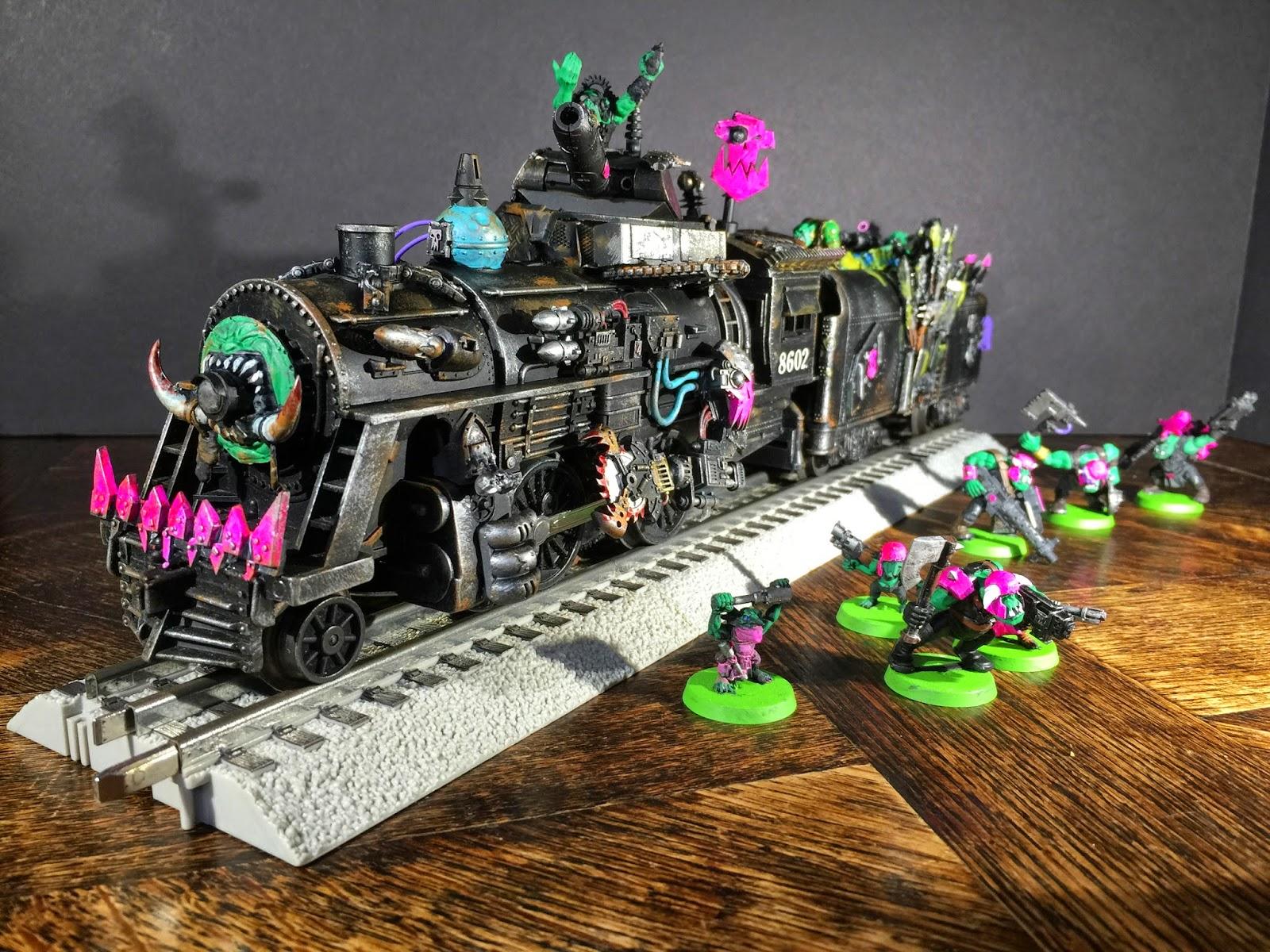 Pink Orks Train; Dakka Chugga; Ork Looted Wagon; Battle Gaming One