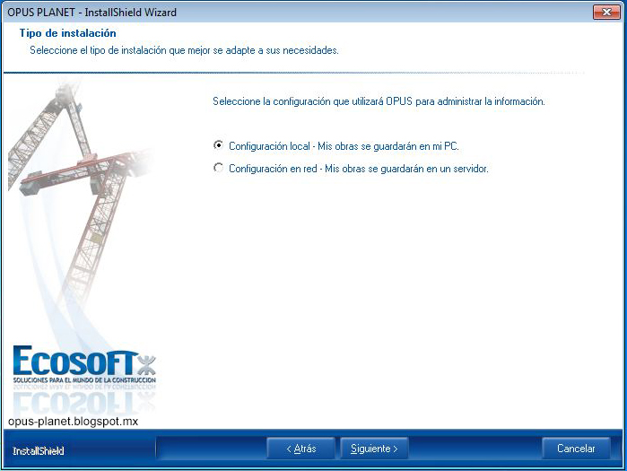 Instalación de Opus Planet en Windows 7