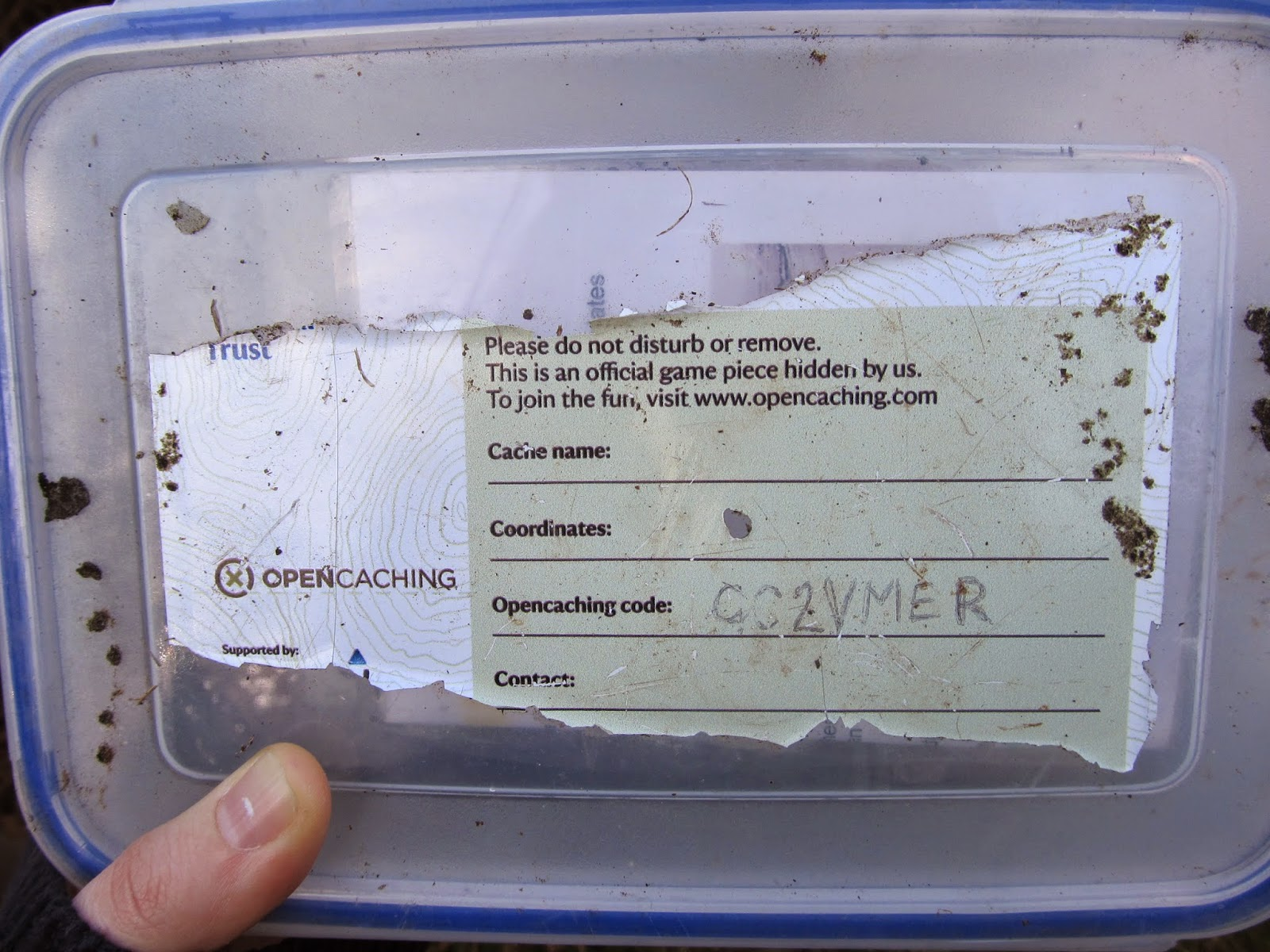 Sample of a geocache