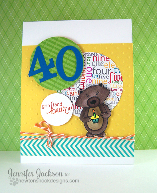 Winston 40th Birthday Card  | Newton's Nook Designs