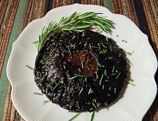 Grilled Portobello Topped with Rosemary