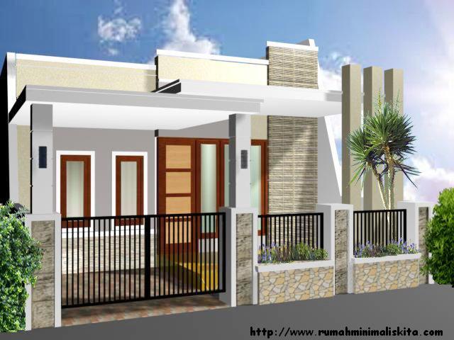 Tampak Depan Desain Model Rumah Minimalis Type 36 45 100 Rumah
