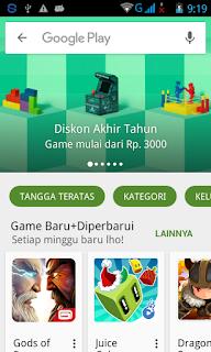 Kunjungi Google Play Store di Android 2015