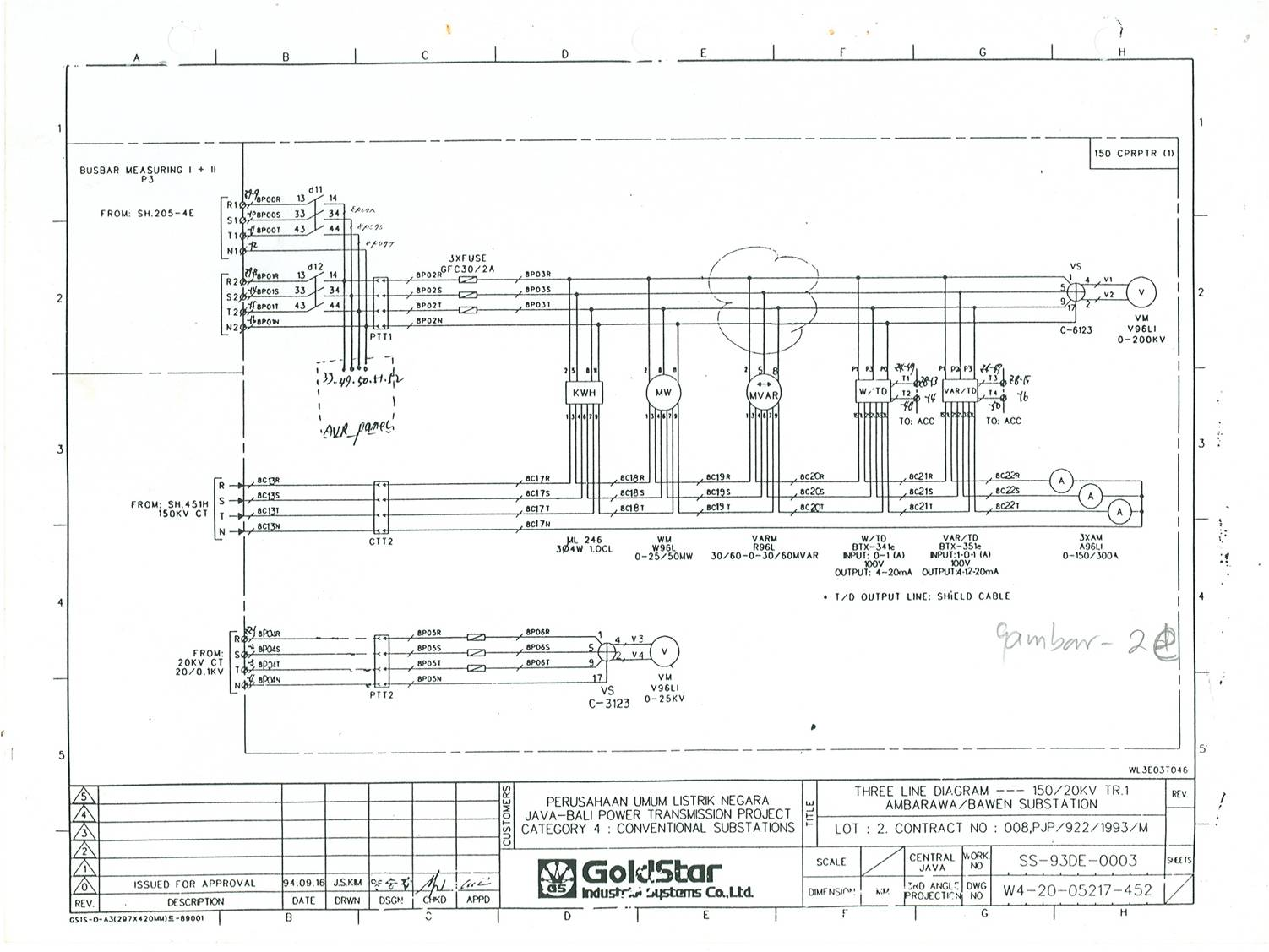 Switchyard  Three Line Diagram 2