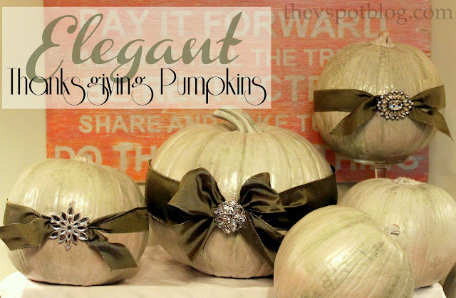 elegant pumpkins, thanksgiving, cream, white, bling, ribbon, jewels, centerpiece, sparkle