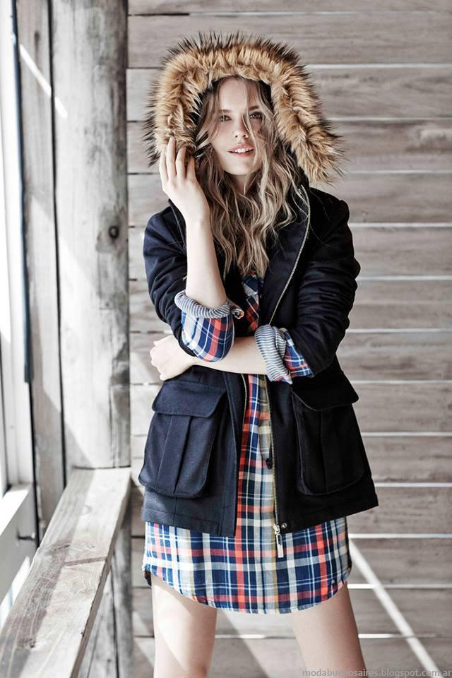Parkas invierno 2015 moda mujer Paula Cahen D'Anvers.
