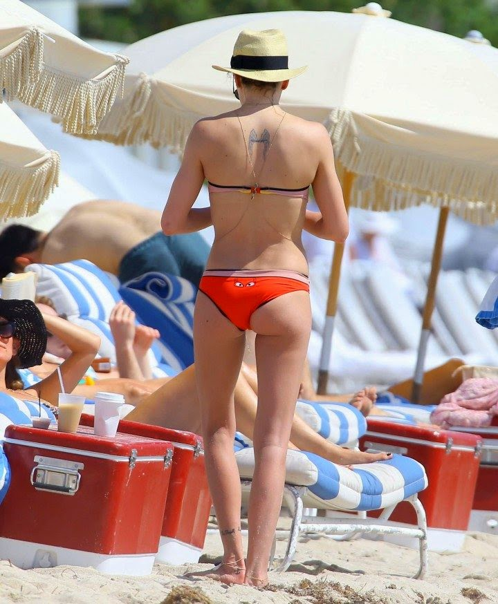 Katie Cassidy seemed to be having a great time on a vacation at Miami,‭ ‬FL,‭ ‬USA on Tuesday,‭ ‬April‭ ‬29,‭ ‬2014.