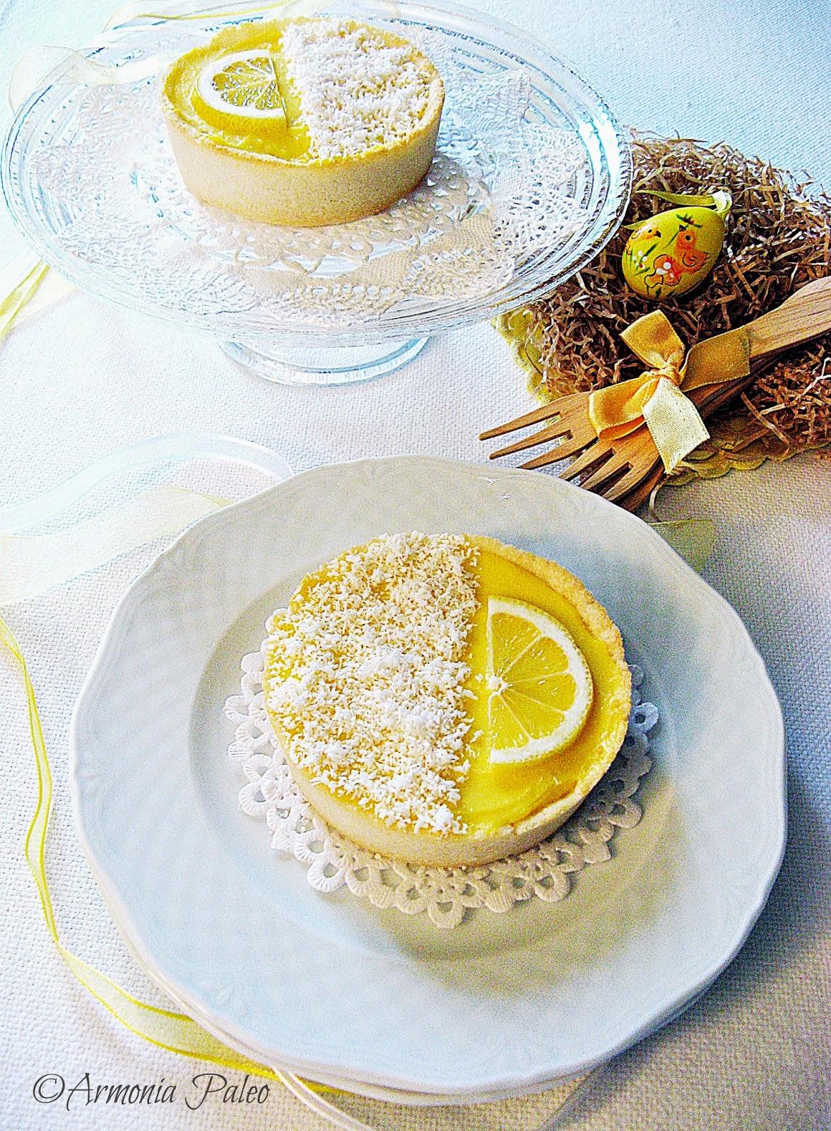 Tartellette alla Crema di Anacardi e Lemon Curd di Armonia Paleo