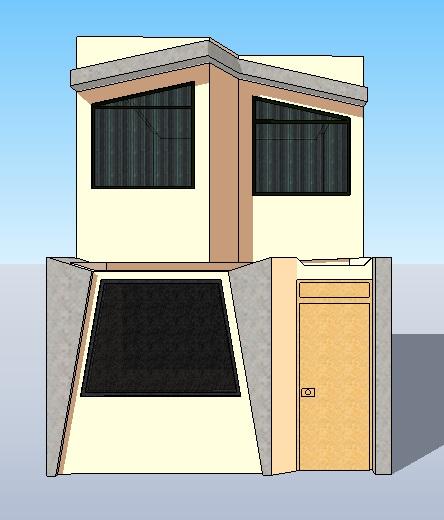 Fachadas y casas casas con fachadas de 4 metros for Diseno de frente de casa pequena