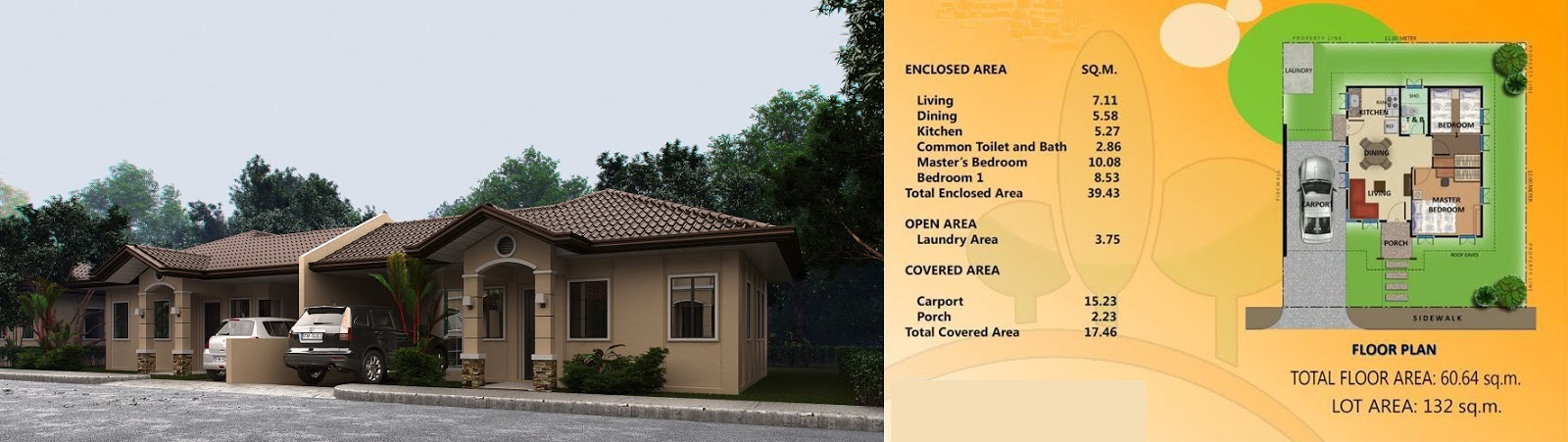 Villa Conchita Nina House Model Floor Plan