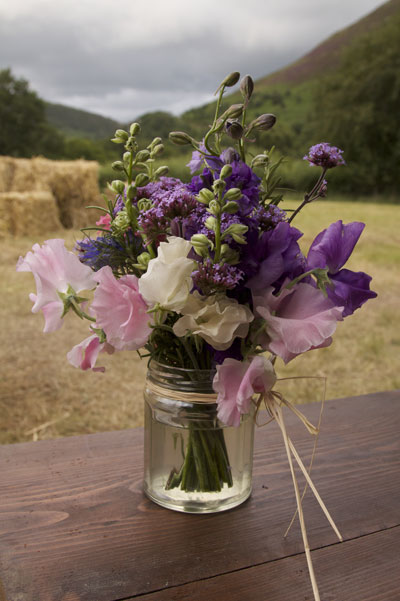 Jam Jars With A New Life As A Wedding Container