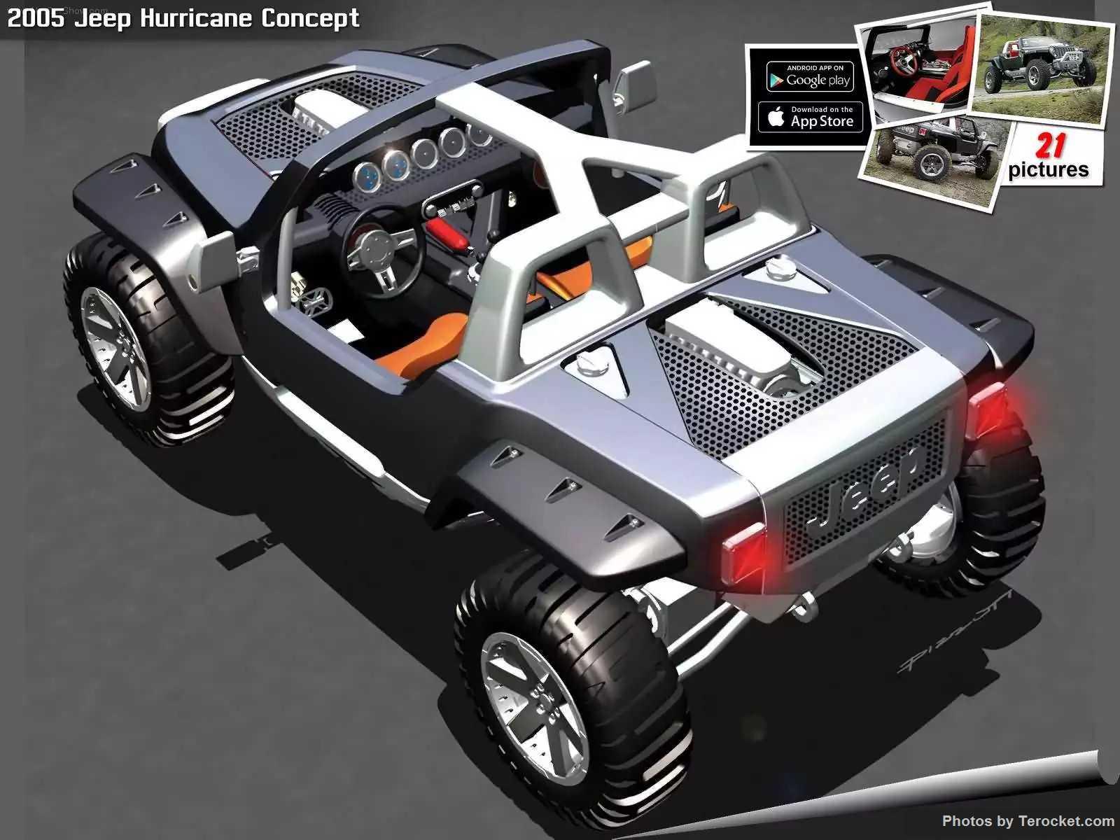 Hình ảnh xe ô tô Jeep Hurricane Concept 2005 & nội ngoại thất