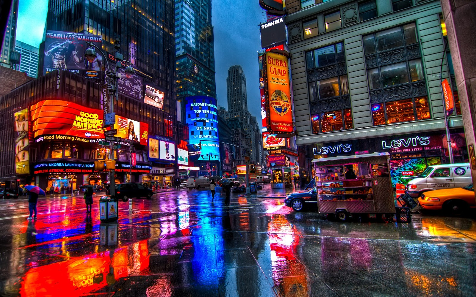 World beautifull places times square new york beautifull for Best places to go in nyc at night