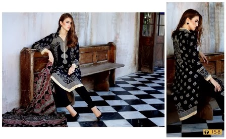 Elegant Firdous Printed Linen Dresses