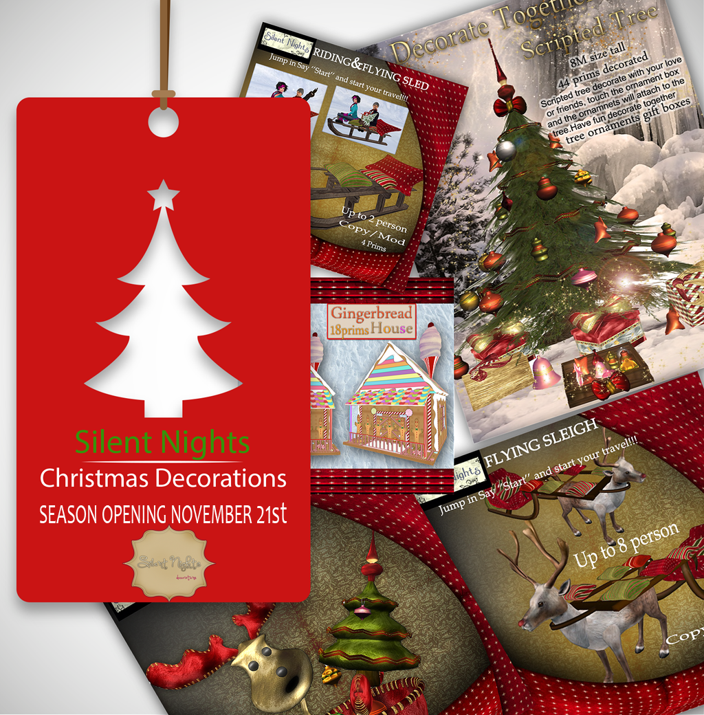Silent Nights Christmas decorations store opens November 21,2018 at Old Europe