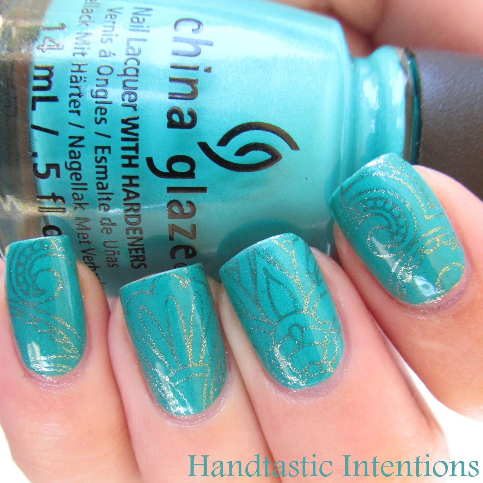 Handtastic intentions nail art turquoise stamping direct sunlight prinsesfo Image collections