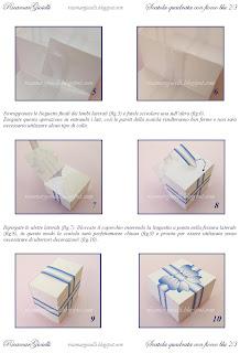 TUTORIAL Scatola quadrata con fiocco blu