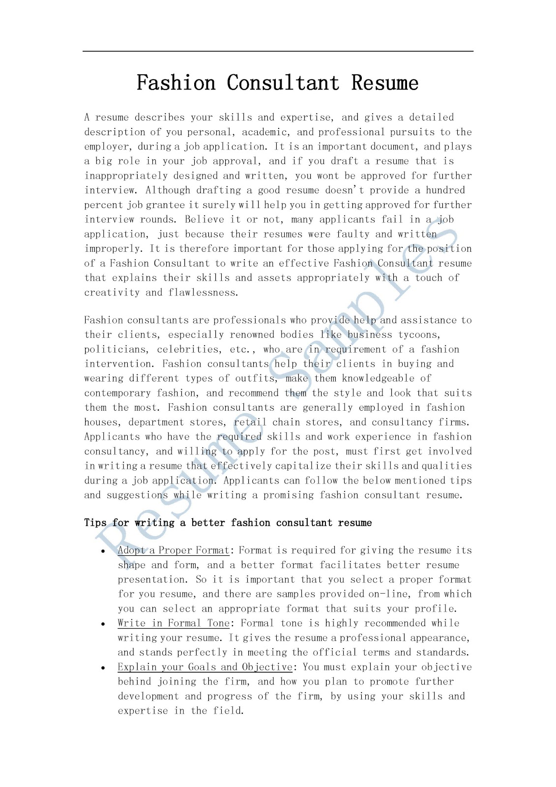 100 management consulting resume format independent