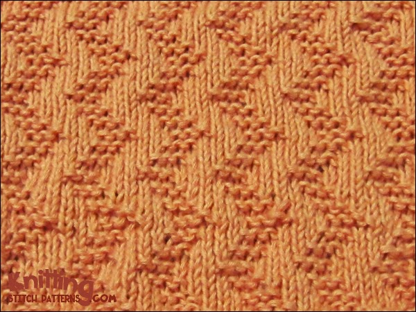 Knit Purl Stitch Patterns : Garter Stitch Zigzag Knitting Stitch Patterns