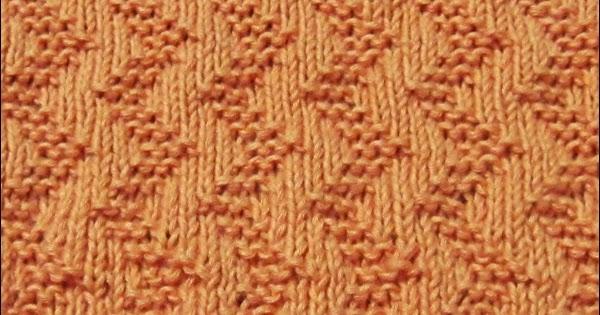 Knit Zig Zag Rib Stitch : Garter stitch zigzag knitting patterns
