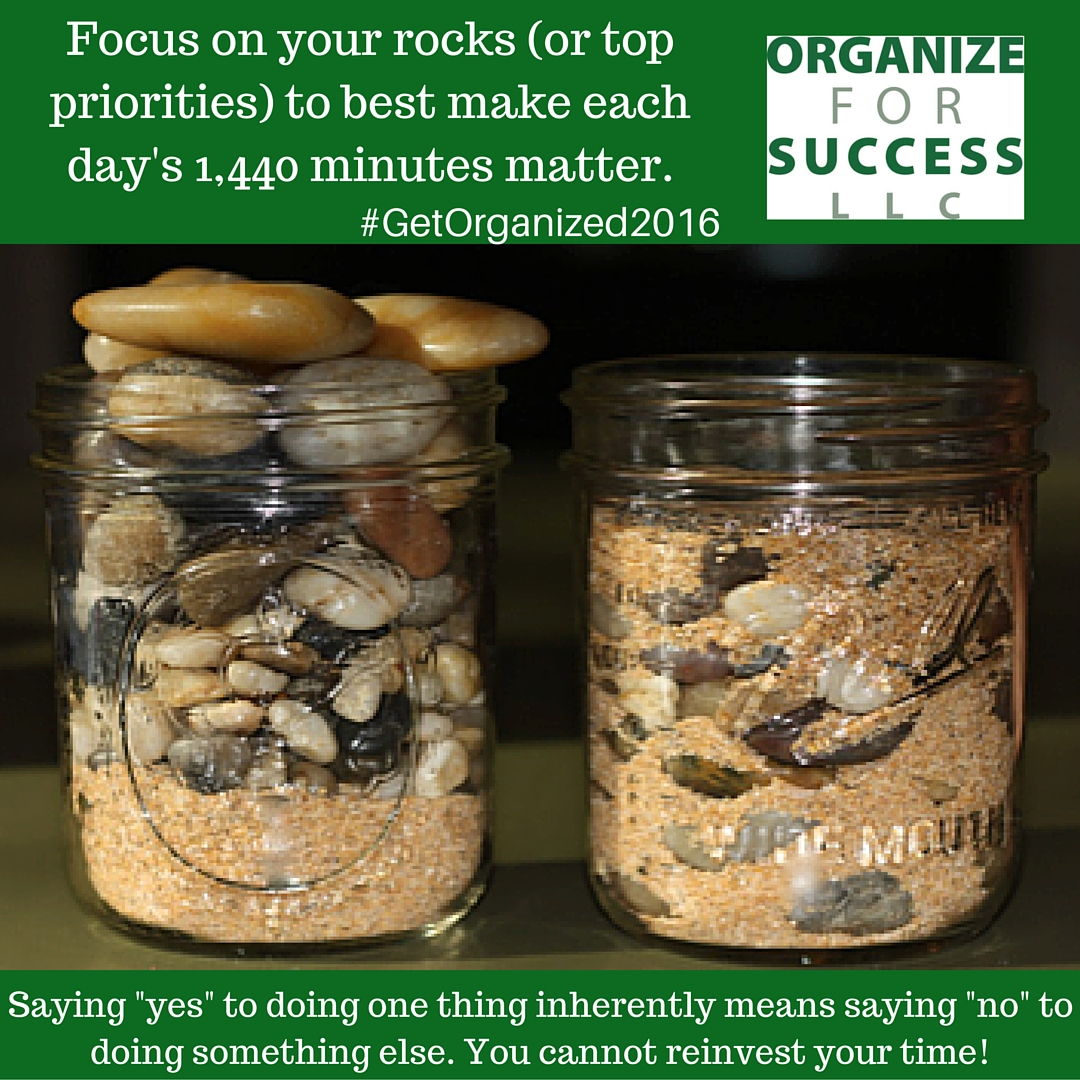 with only 1440 minutes in each day make each minute matter by focusing on your priorities saying yes to doing one thing is sayingno to doing
