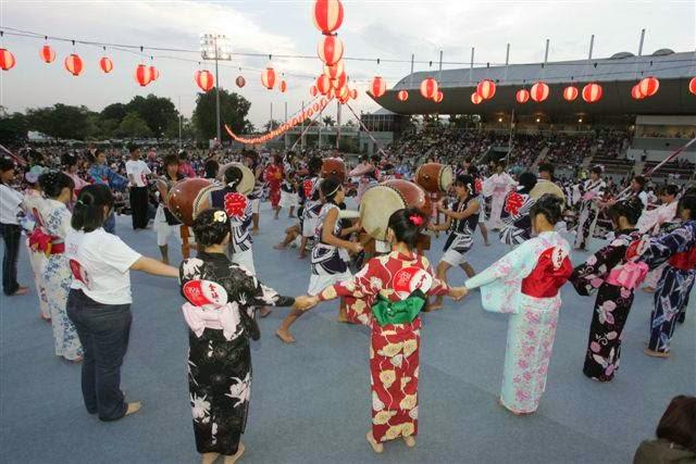 Bon Odori Festival in Summer