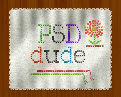Create a Cross Stitch Effect