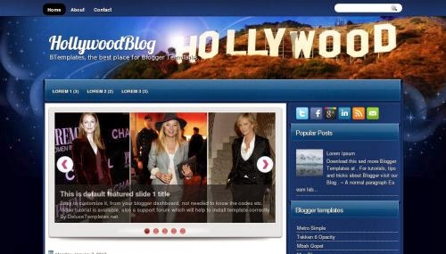 hollywood blog video movie blogger template 2014 for blogger or blogspot