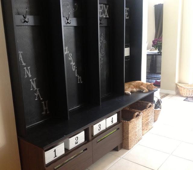 Besta Tv Bench Turned Mudroom Storage Get Home Decorating