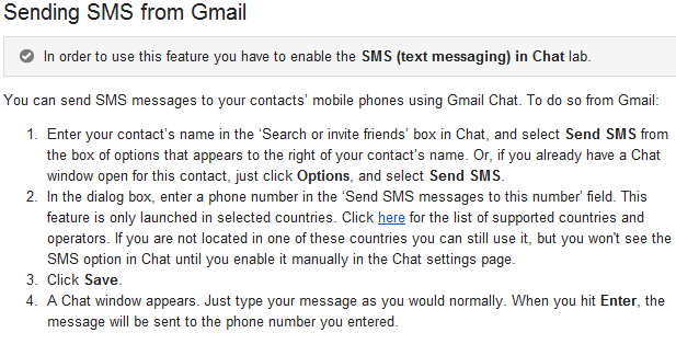 gmail chat,free sms,sms in gtalk,sms in gmail