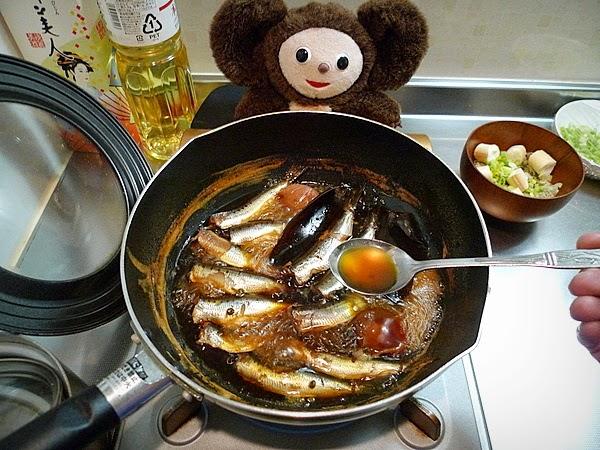 イワシ梅煮の作り方(2)