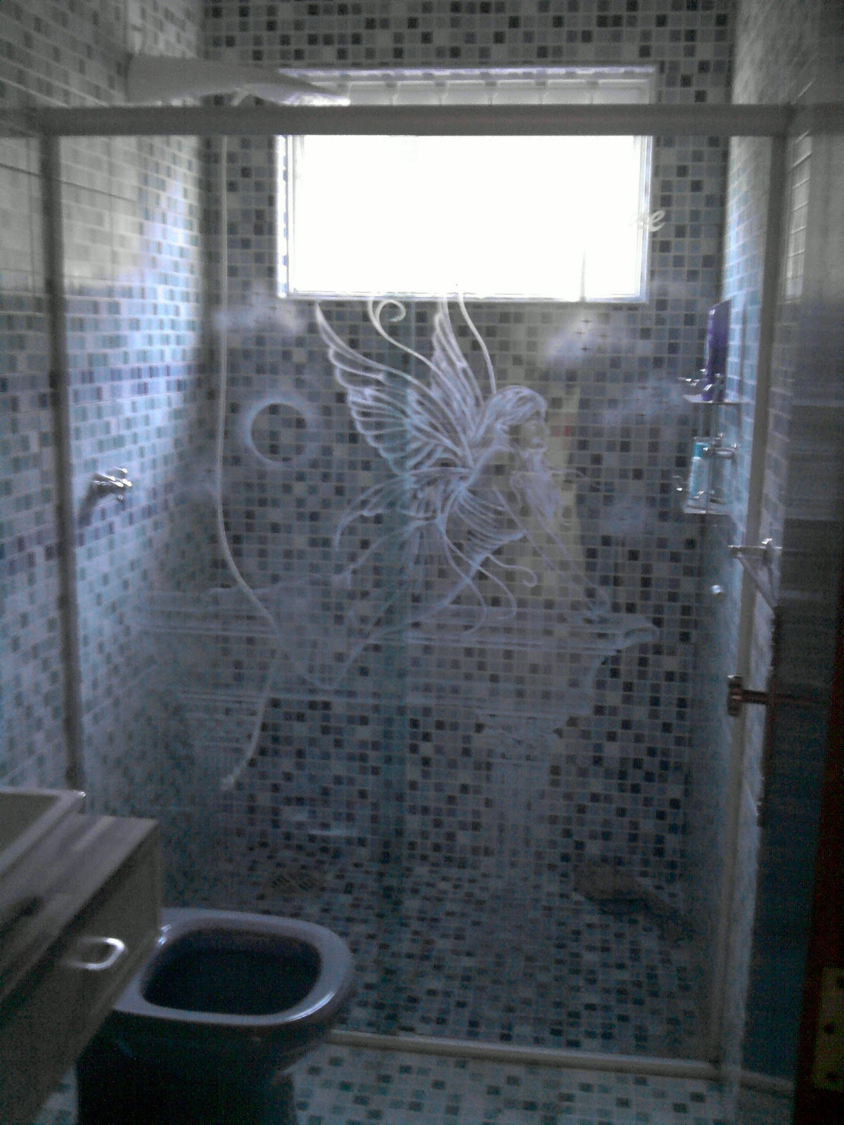 Imagens de #415E8A Vavá Vidros e Decorações: BOX DESENHADO COM JATO 1200x1600 px 2710 Box Banheiro Quadrato