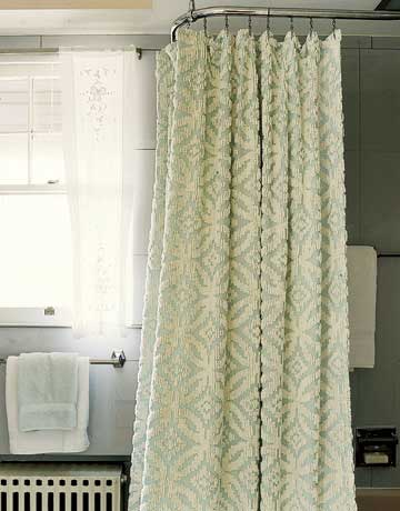 Textured Shower Curtain Same Material As A Towel Gives It An Elegant Look