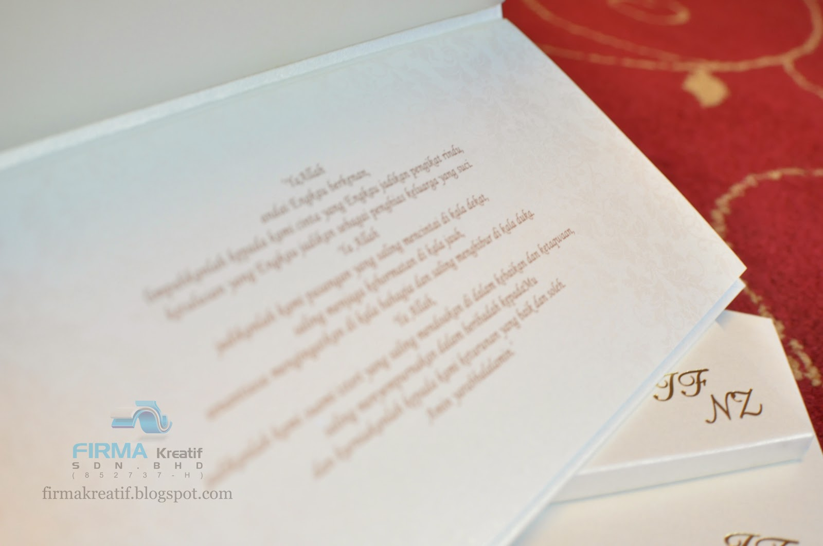 Wedding card hardcover irfan fazail nadia zuber firma wedding stopboris Gallery