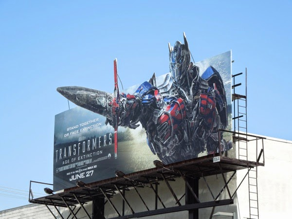 Transformers Age of Extinction billboard