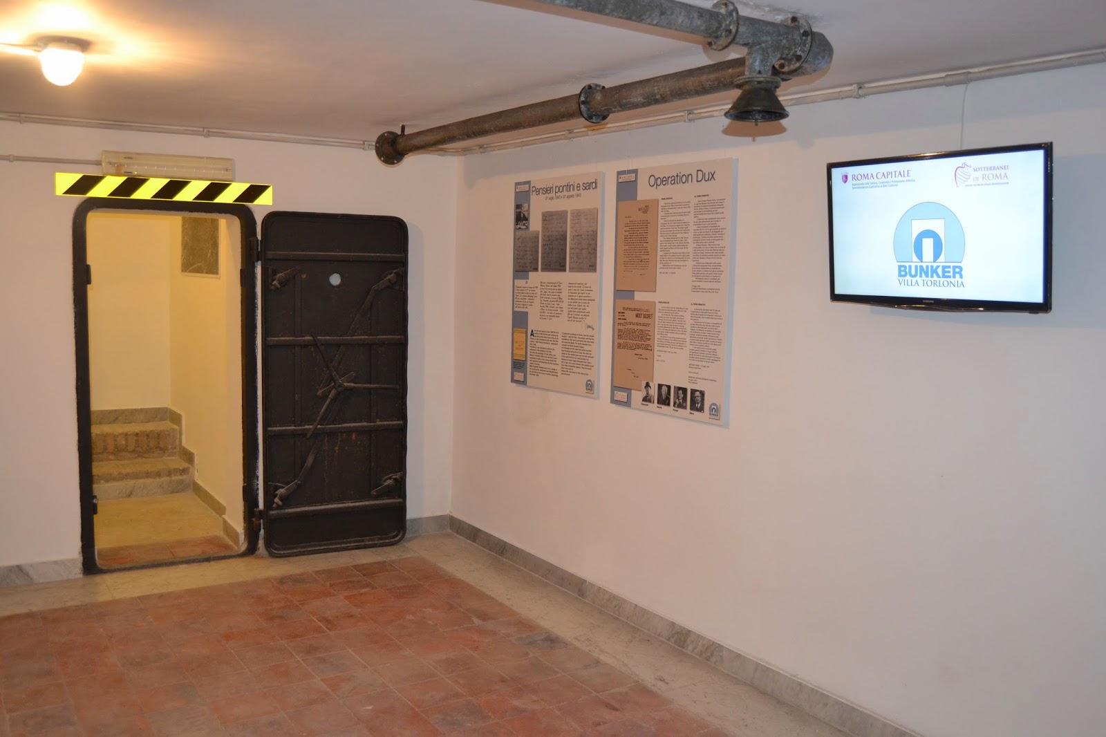 Bunker antiaereo destinato alla protezione di Benito Mussolini - Villa Torlonia Roma