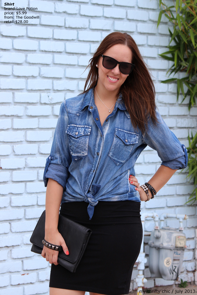 denim chambray top