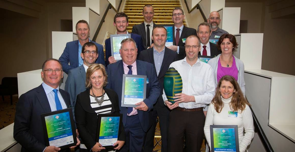 2014 ACT Chief Minister's Export Awards winners