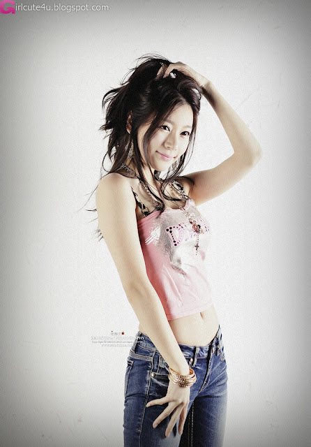 2 Han Ji Eun in Pink Top-very cute asian girl-girlcute4u.blogspot.com