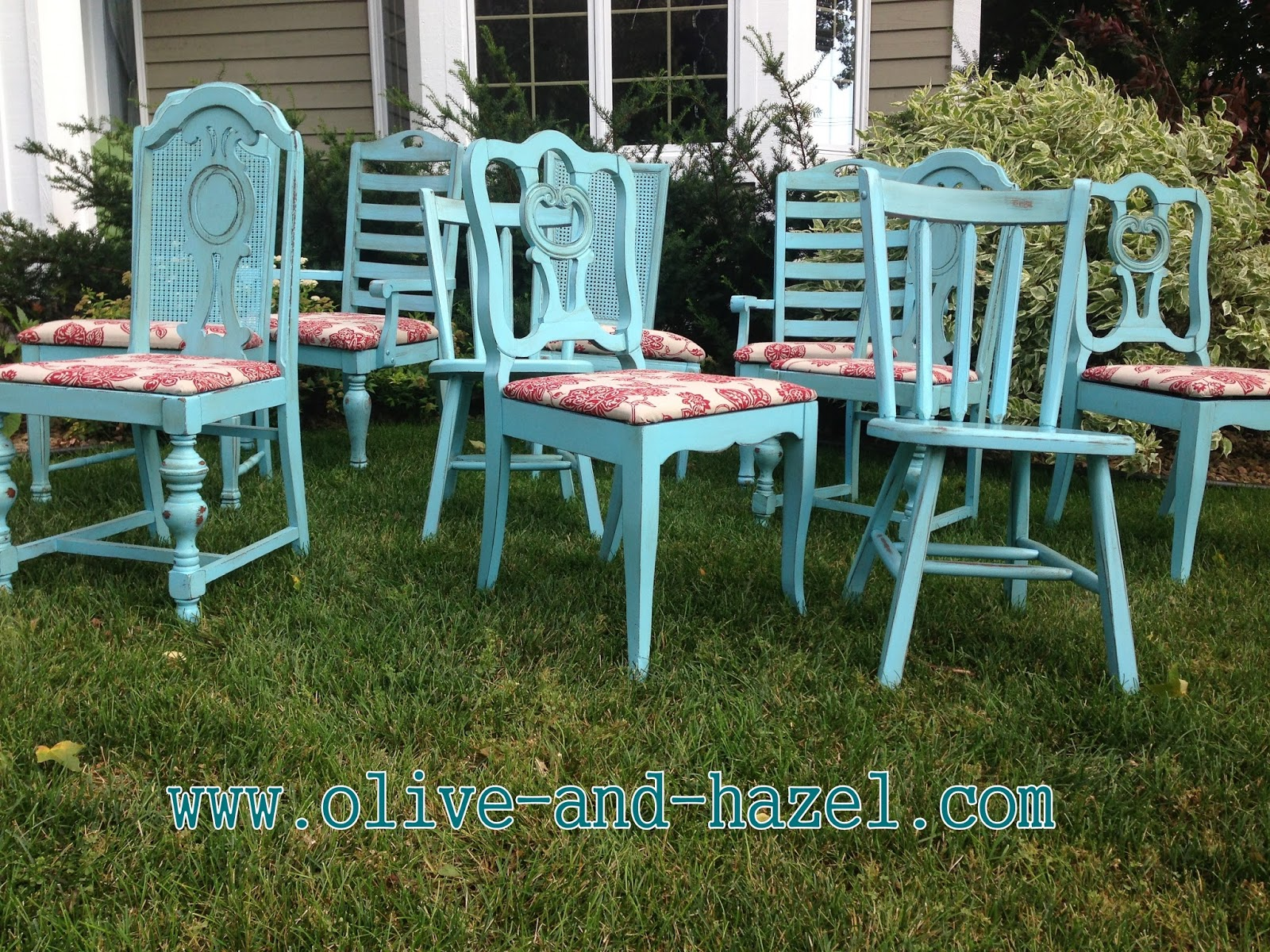 olive + hazel decor co.: custom teal mismatched dining chairs
