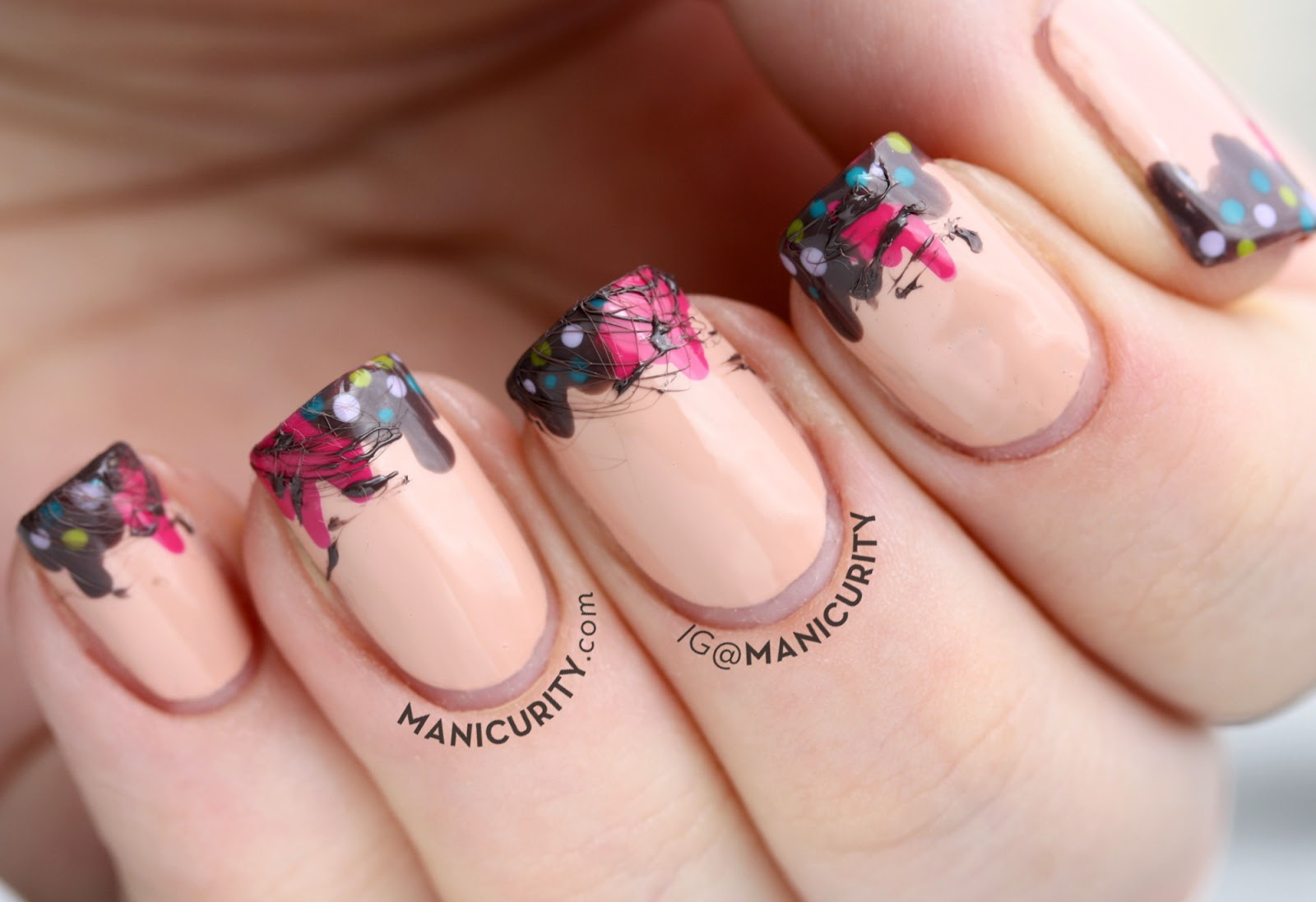 Manicurity | super cute Drippy Ice Cream Nails - with some Sugar-Spun Fudge!