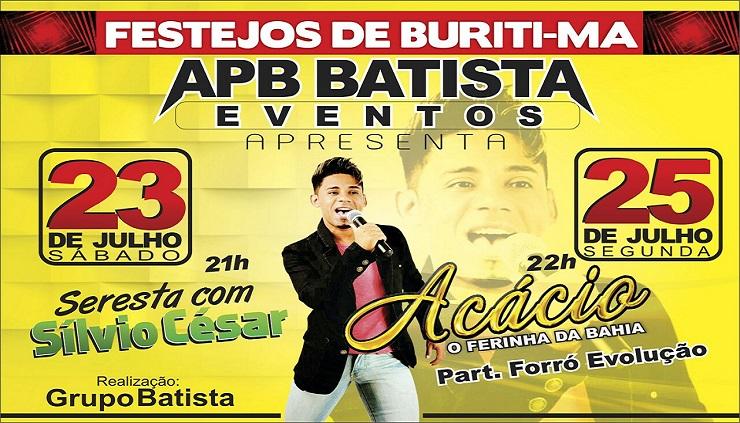 Shows dos Festejos 2016 no APB Batista Eventos